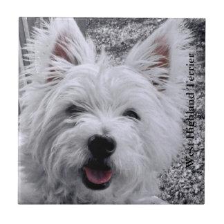 Perro del oeste Terrier de la montaña Azulejos Ceramicos