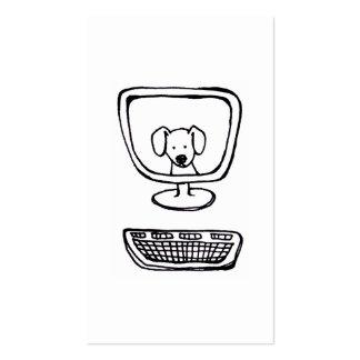 Perro del ordenador - tinta fresca de la diversión tarjetas de visita