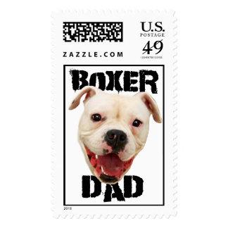 Perro del papá del boxeador sellos