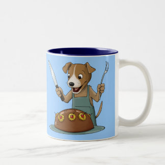 Perro del perro chino taza de dos tonos