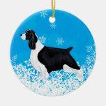 Perro del perro de aguas de saltador adornos