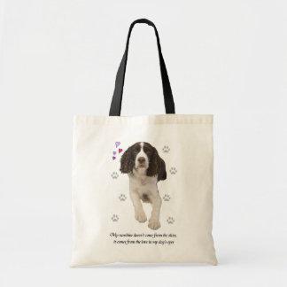 Perro del perro de aguas de saltador inglés bolsa tela barata