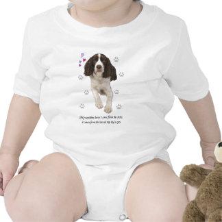 Perro del perro de aguas de saltador inglés trajes de bebé