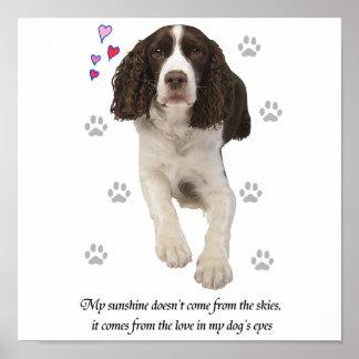Perro del perro de aguas de saltador inglés póster