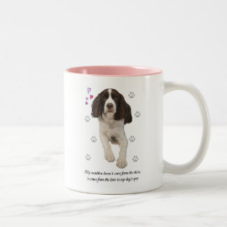 Perro del perro de aguas de saltador inglés taza dos tonos