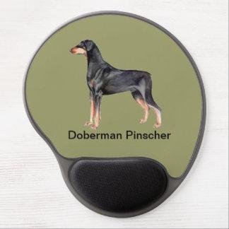 Perro del Pinscher del Doberman - cojín de ratón d Alfombrillas De Ratón Con Gel