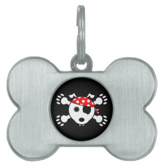 Perro del pirata placas de mascota