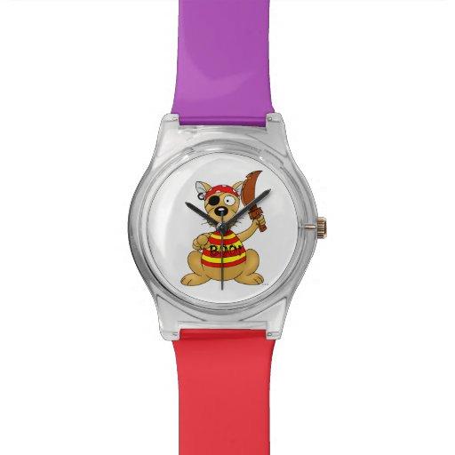 perro del pirata relojes de pulsera
