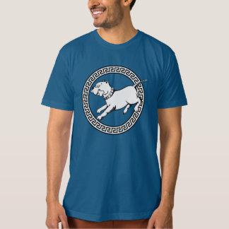 Perro del pitbull del arte del vector - camiseta polera