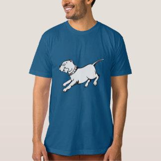 Perro del pitbull del arte del vector - camiseta poleras