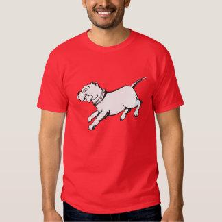 Perro del pitbull del arte del vector - la poleras