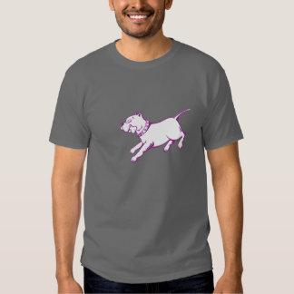 Perro del pitbull del arte del vector - la remeras