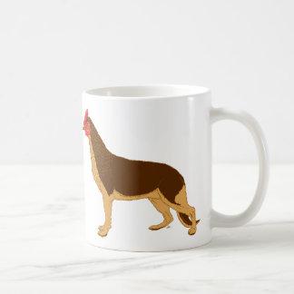 Perro del pollo taza clásica
