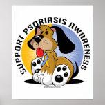 Perro del psoriasis impresiones