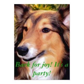 """Perro del rescate invitación 5.5"""" x 7.5"""""""