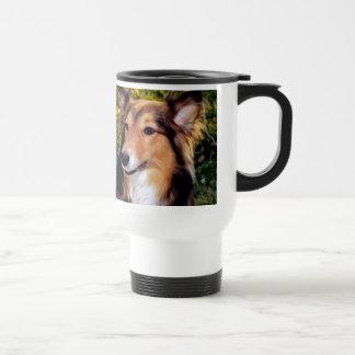 Perro del rescate taza de café