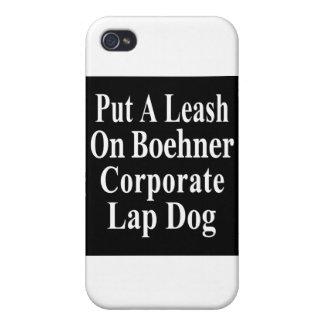 Perro del revestimiento del aceite de Juan Boehner iPhone 4 Carcasas