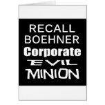 Perro del revestimiento del aceite de Juan Boehner Tarjetón