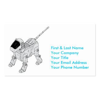 Perro del robot tarjetas de visita