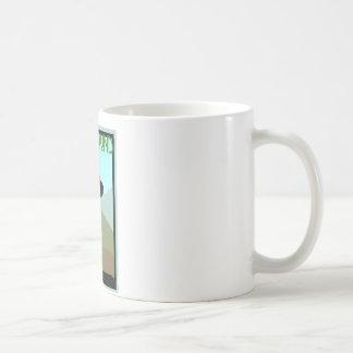 Perro del sabueso del estilo del artesano taza de café
