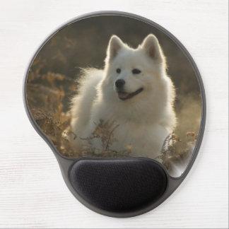 Perro del samoyedo alfombrilla para ratón de gel