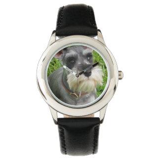 Perro del Schnauzer Relojes De Pulsera