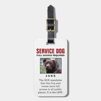 Perro del servicio - insignia requerida acceso etiquetas bolsa