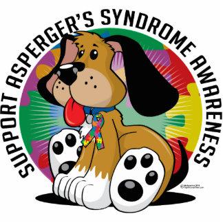 Perro del síndrome de Asperger Fotoescultura Vertical