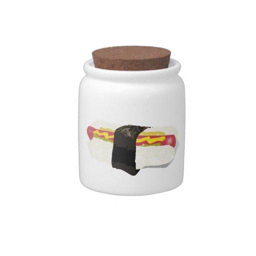 Perro del sushi jarra para caramelo