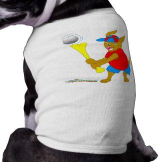 Perro del talud del béisbol ropa de perro
