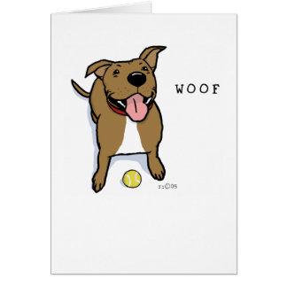 Perro del tejido tarjeta pequeña