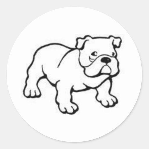 perro del toro pegatina redonda