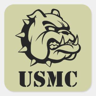 Perro del USMC Pegatinas Cuadradases