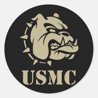 Perro del USMC Pegatinas Redondas