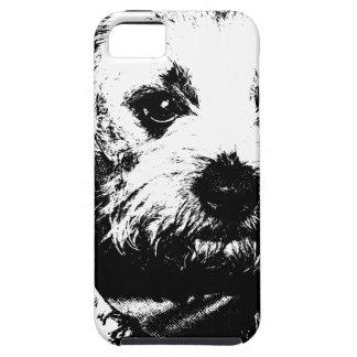 Perro del vaquero del terrier de frontera iPhone 5 Case-Mate funda