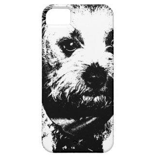 Perro del vaquero del terrier de frontera iPhone 5 Case-Mate cárcasas