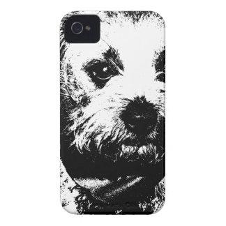 Perro del vaquero del terrier de frontera iPhone 4 Case-Mate cárcasa