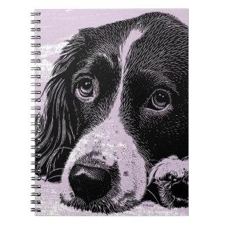 Perro del vintage notebook