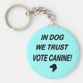 Perro del voto con el texto negro llavero redondo tipo pin