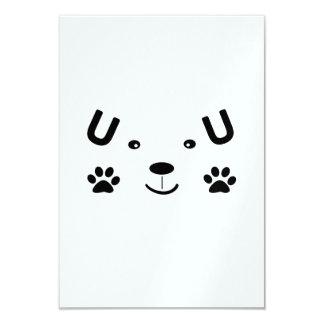 Perro demasiado lindo invitación 8,9 x 12,7 cm