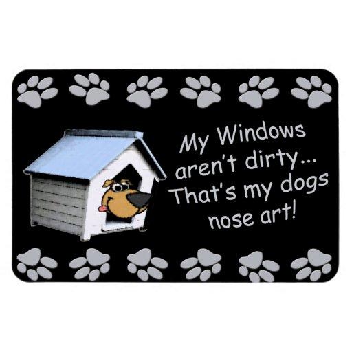 Perro divertido cómico - arte de la nariz iman