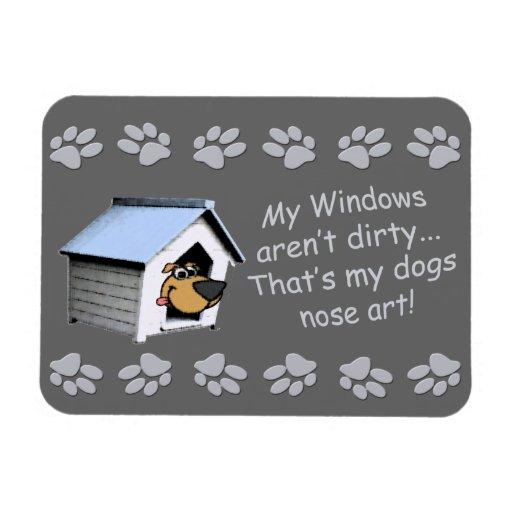 Perro divertido cómico - arte de la nariz imanes de vinilo