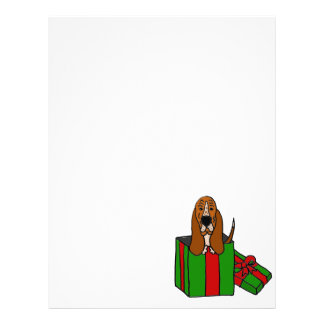 Perro divertido de Basset Hound en paquete del Membrete A Diseño