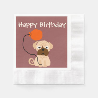 Perro divertido del barro amasado con el globo servilletas desechables