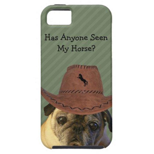 Perro divertido del barro amasado del vaquero iPhone 5 carcasa
