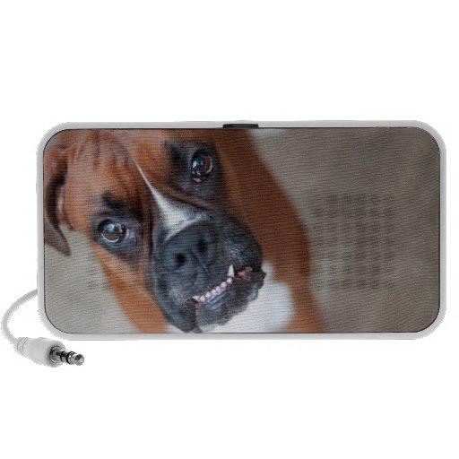 Perro divertido del boxeador iPod altavoz