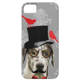 Perro divertido del steampunk funda para iPhone 5 barely there