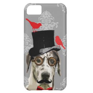 Perro divertido del steampunk funda para iPhone 5C