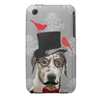 Perro divertido del steampunk iPhone 3 Case-Mate funda