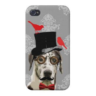 Perro divertido del steampunk iPhone 4/4S funda